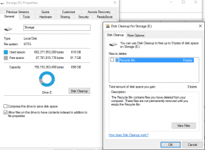 disk cleanup screenshot